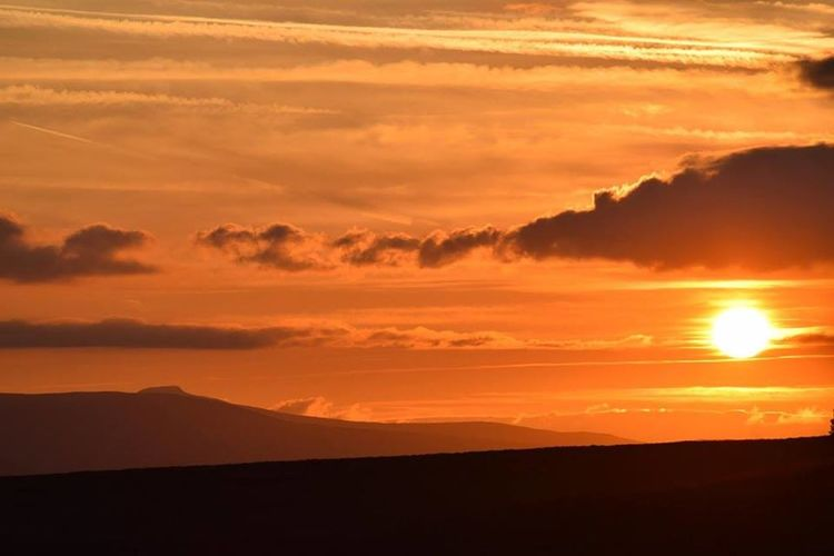 Brecon Beacons Pen -y-Fan Sugar Loaf Beauty In Nature Dramatic Sky Go Higher Landscape Majestic Mountain Orange Color Silhouette Sunset