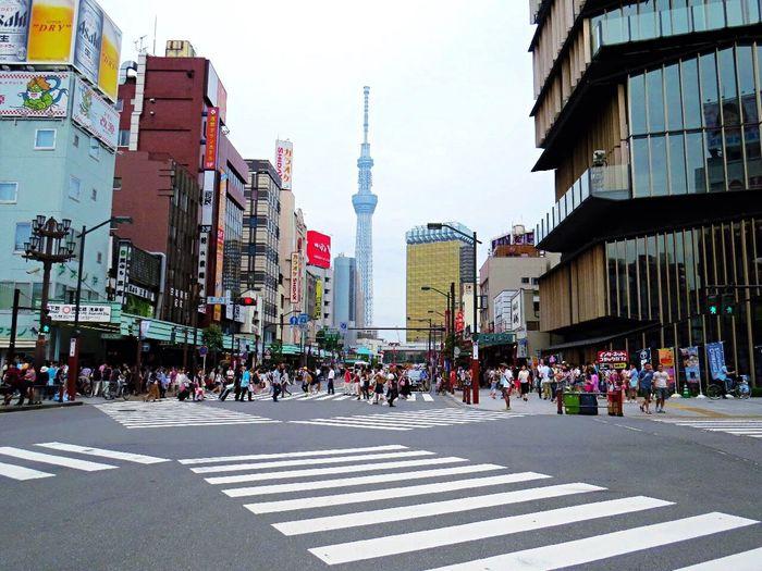 Tokyo,Japan City Life Tokyoskytree People Walking Around The City