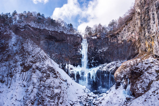 Kegon Falls Waterfall Scenery Nikko Japan Travel ASIA Asdgraphy Photography Sony Sony A6000 Sonyimages Sonyphotography Alphauniverse Holiday Trip Mountain Cloud - Sky Snow Motion Nature Winter Day Scenics Outdoors Beauty In Nature Landscape Cold Temperature No People Shades Of Winter Go Higher