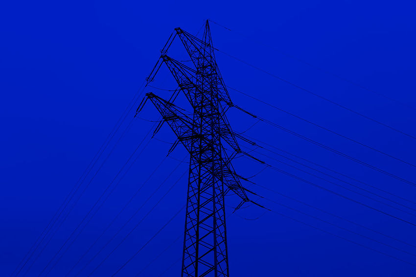 Blue Cable Clear Sky Connection Day Electricity  Electricity Pylon No People Outdoors Power Line  Power Supply Sky Technology