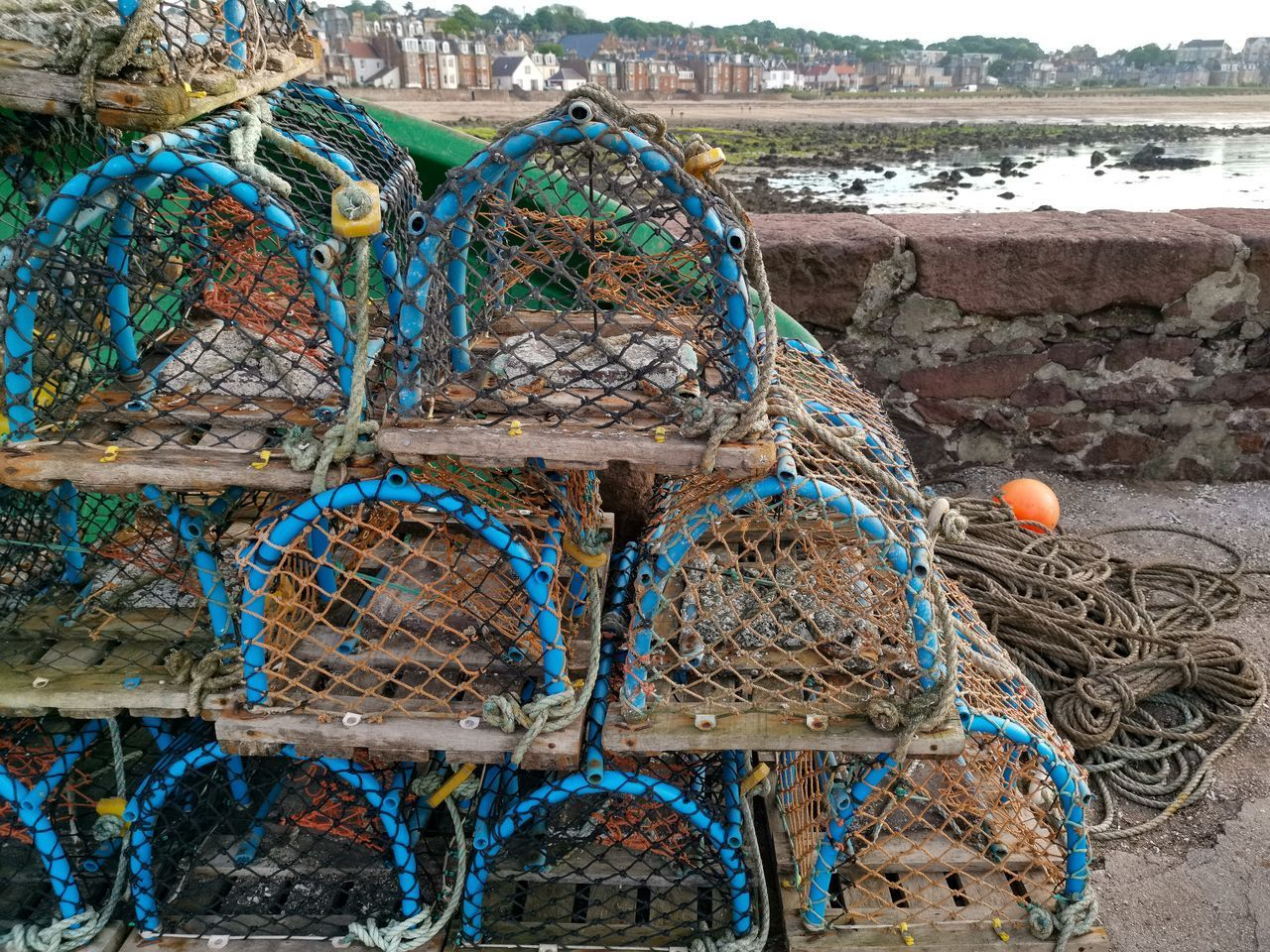 STACK OF FISHING NET