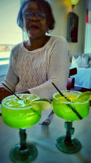 Happy St. Patricks Day Green Margaritas
