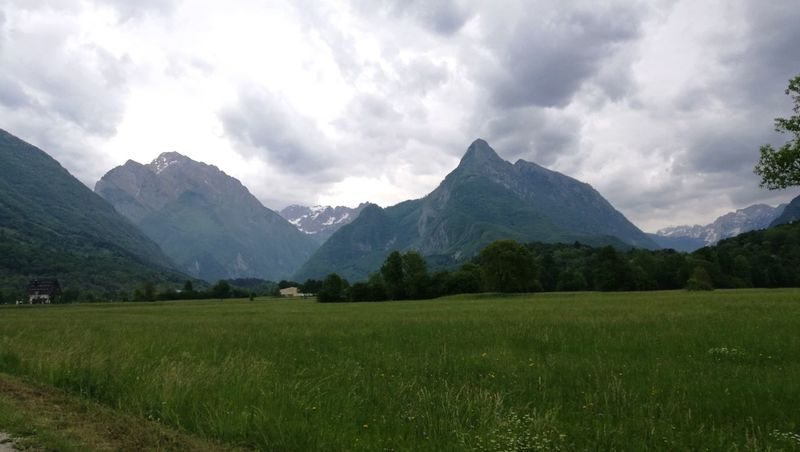 Mountain Landscape Mountain Range Nature Grass Scenics Cloud - Sky Panoramic Beauty In Nature Tranquil Scene Outdoors Tranquility Rural Scene No People Travel Destinations Springtime Vacations Mountain Peak Sky Slovenia Slovenian Panorama Slovenian Alps The Great Outdoors - 2017 EyeEm Awards