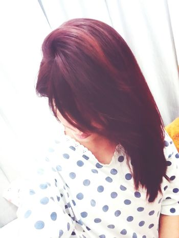 Brown no more. Hello red hair! Red Hair