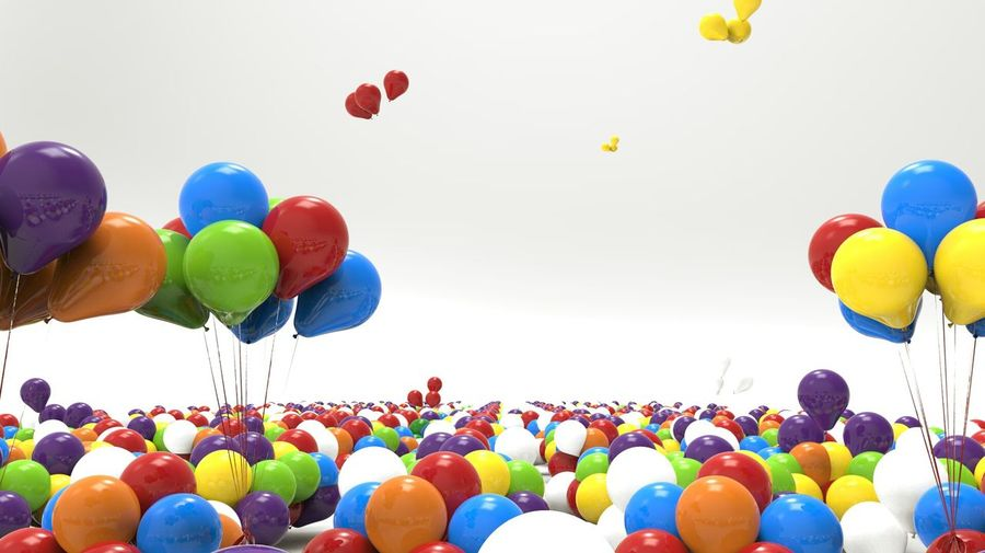 Digital Composite Image Of Colorful Balloons
