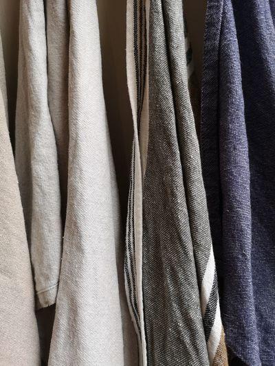 Full frame shot of clothes hanging on rack
