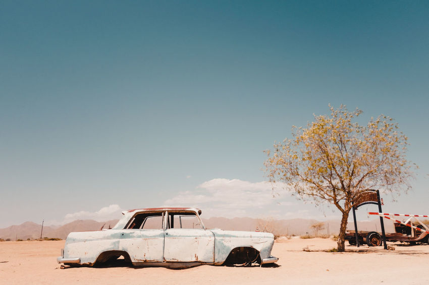 An abandoned car in Solitaire desert. Namibia Summer Road Tripping