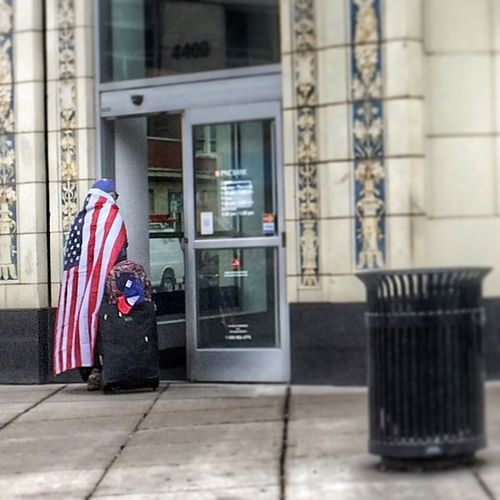 Liberty Freedom Flag American Flag Streetphoto_color Street Photography Streetphotography Light And Shadow Streetpeople Chicago