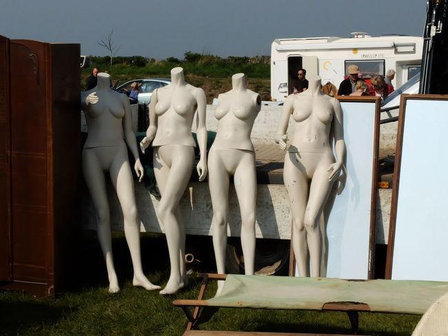 car boot mannequins Mirror Camper Campervan Car Boot Car Boot Dolls Car Boot Sale Day Human Representation Mannequin Outdoors People Rv Sculpture Statue Stretcher Wardrobe