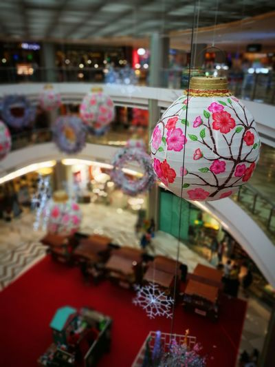 Focus On Foreground Cultures Tradition Close-up Bokeh Photography Bokeh Bokeh Art Christmas Decorations Hanging Ball Traveling Home For The Holidays