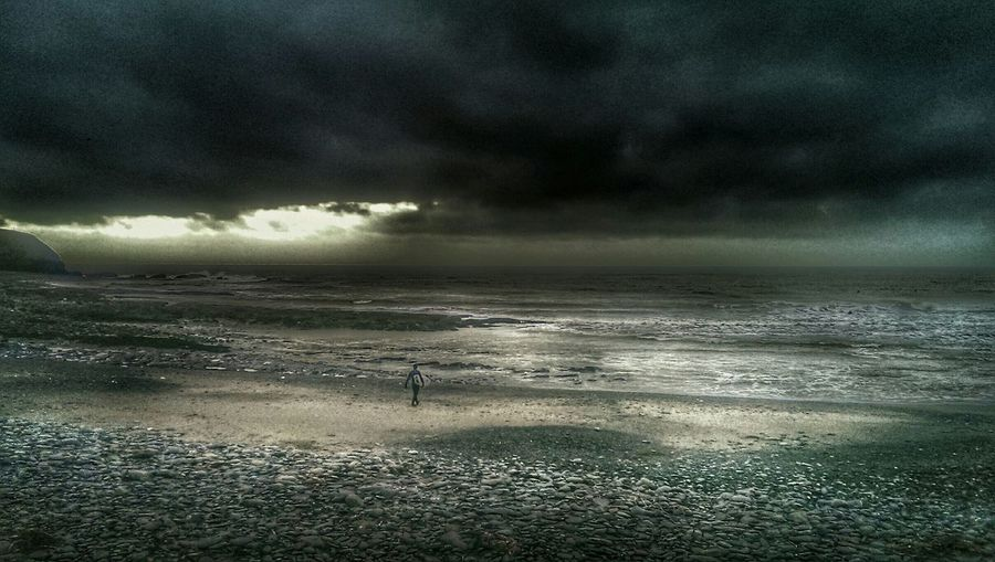 Surfing Surfers Paradise Into The Storm Life's A Beach... Surfer Dude Dark Photography Sea And Sky Beach Photography Gottaloveourwinterskies Borth, Wales Mid Wales Coast Of Wales The KIOMI Collection