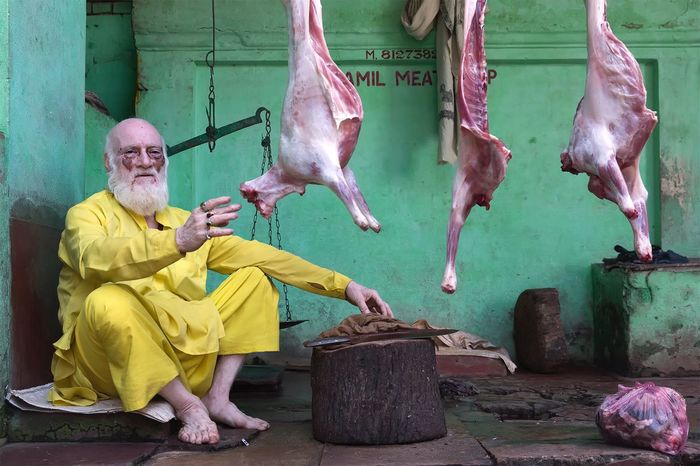 Jamil meat shop in Varanasi Uttar Pradesh. January 20, 2017. People Butcher Market Working Occupation Streetphotography Documentary Street Photography Portrait Travel India People Photography Storytelling Check This Out Travel Photography EyeEm Best Shots - People + Portrait Indian Varanasi Incredible India Real People