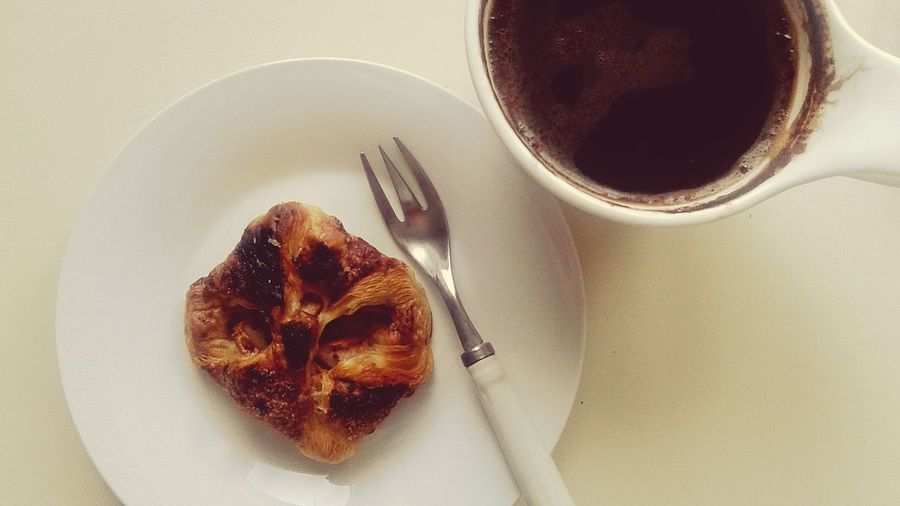 Better Together Black Coffee Mini Apple Pie with Cinnamon Enjoying Breakfast