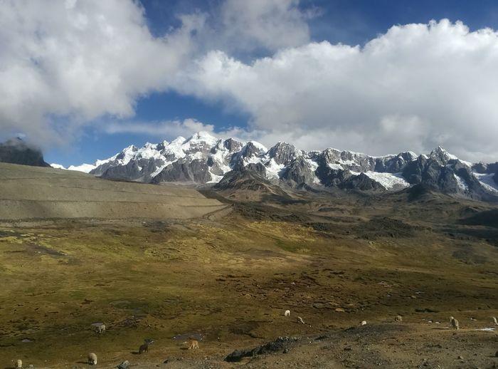 Mountain Cloud - Sky Landscape Snow Mountain Range Mountain Peak Snowcapped Mountain