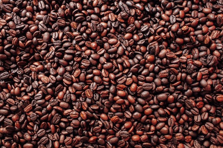 Coffee. Black Cuba Beans Coffee Full Frame Backgrounds Abundance Textured  Brown No People Close-up