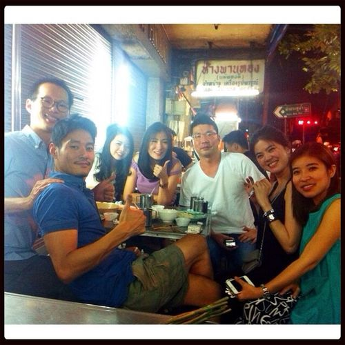 Nice Friends :) Kao Mun Kai Kuangheng Chicken Rice Moo Sate