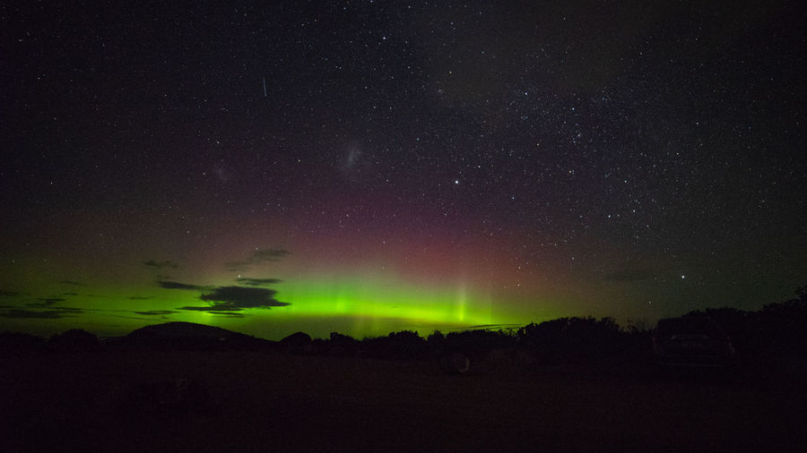 Aurora Australis Rayed Arc at South Arm Tasmania Aurora Rayed Arc Auroral Forms And Structures Geomagnetic Disturbance Natural Light Night Photography Astrophotography Aurora Rays Beauty In Nature Geomagnetic Storm Solar Storm Southern Hemisphere Southern Lights Tasmania