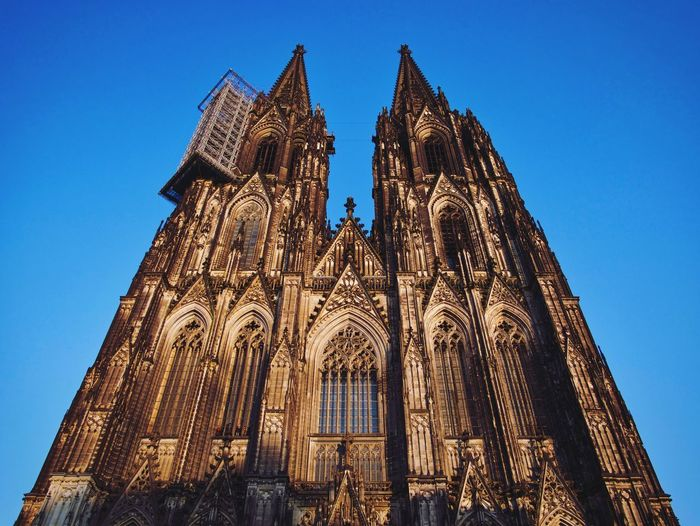 Home Is Where The Dom Is Place Of Worship Religion Spirituality Low Angle View Architecture Built Structure History Blue Gothic Style Clear Sky Building Exterior Sky No People Outdoors