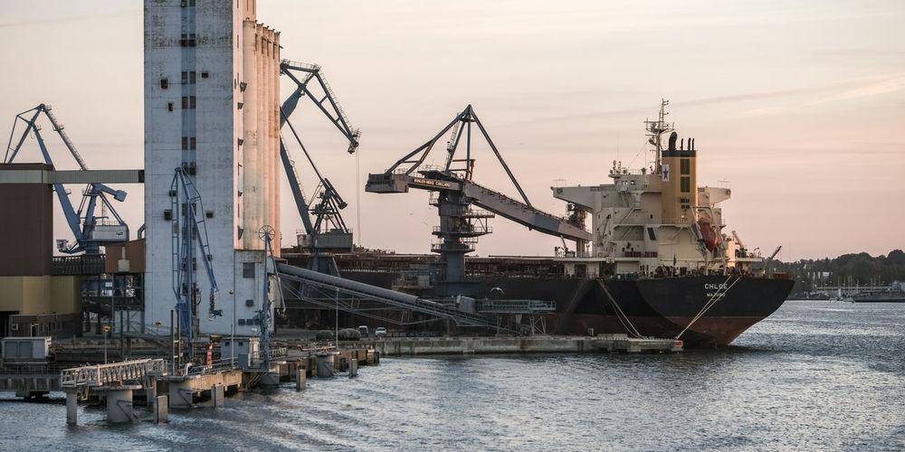 Cranes at commercial dock