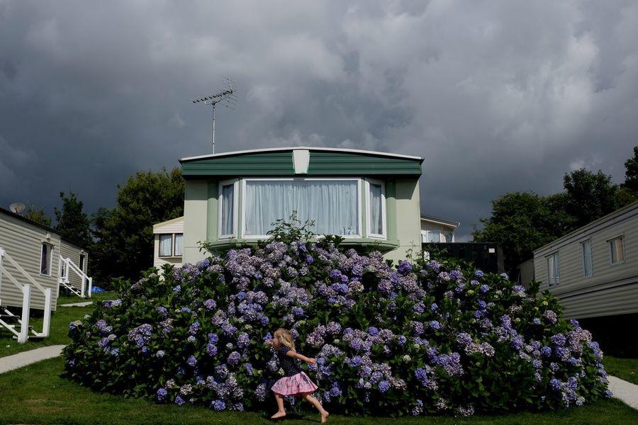 Summer, Hastings, UK Blooming Caravan Caravan Park Chilling Cloud Clouds Cloudy Color Colour Colourful Day England Flowers Girl Grey Hastings Holiday Outdoors Purple Storm Cloud Summer Summertime Uk Window