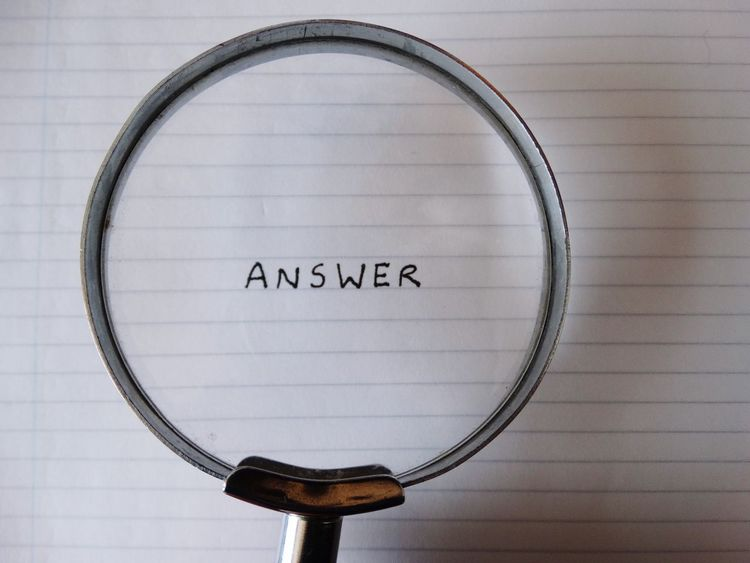 Magnifying glass looking at word on paper. Text Communication Western Script Indoors  No People Close-up Day Answer Search Searching Glass Magnifying Glass Magnified Word Looking Paper NotePad Notebook Words Answers