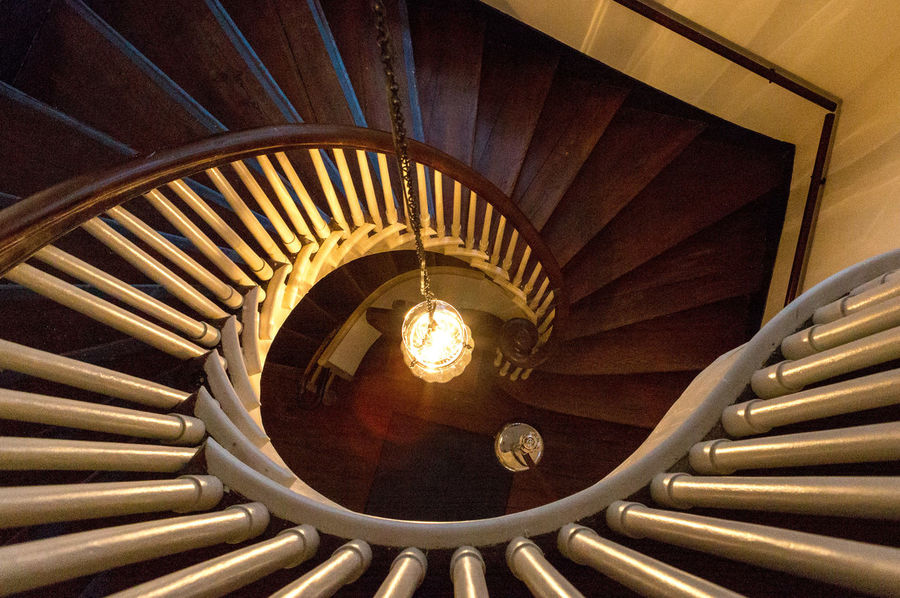 Spiral Stairway at the Old South Meeting House Spiral Staircase Spiral Stairs Architecture Built Structure Day Hand Rail High Angle View Indoors  No People Railing Rungs Spiral Staircase Stairs Steps Steps And Staircases