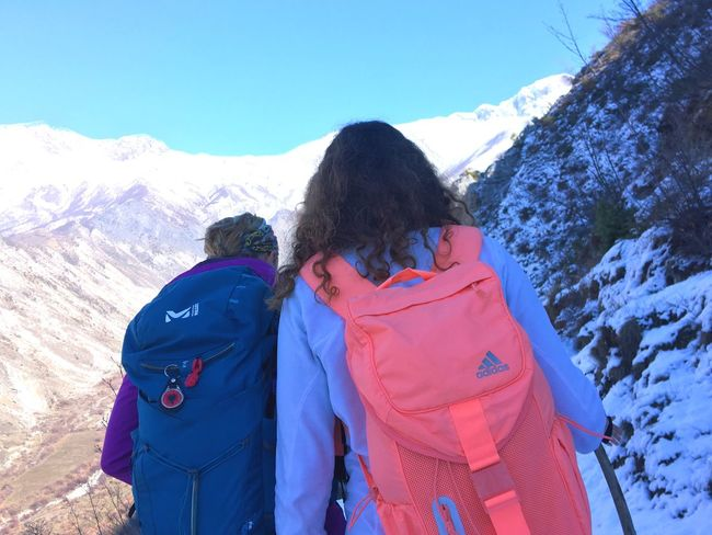 Go Higher Adidas Utalaya Snow Winter Cold Temperature Mountain Two People Togetherness Day Real People Backpack Lifestyles Mountain Range Love Bonding Nature Leisure Activity Outdoors Go Higher Inner Power