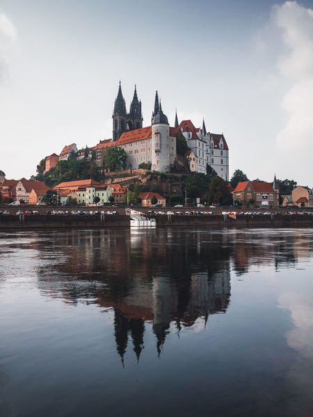 Travel Travel Photography Wanderlust Albrechtsburg Architecture Building Built Structure History No People Outdoors Reflection Saxony Sky Travel Destinations Water Waterfront