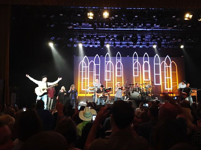 Garthbrooks Nashville Ryman Auditorium Arts Culture And Entertainment Illuminated Large Group Of People Night Performance Music Musician Leisure Activity Event Crowd Playing Lifestyles Stage - Performance Space Musical Instrument Performer  Enjoyment Person TakeoverMusic Nightlife Lighting Equipment Country Music SiriusXM
