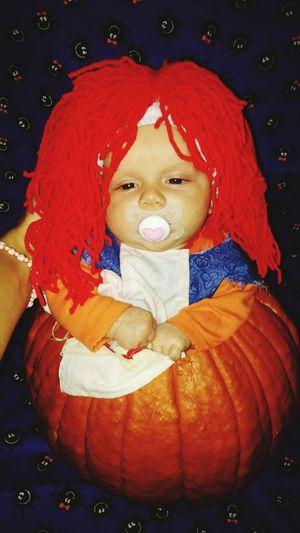 Raggedy Ann Pumpkin Halloween Handmade Costume. Halloween Close-up Carving - Craft Product Art And Craft Art Craft EyeEmNewHere