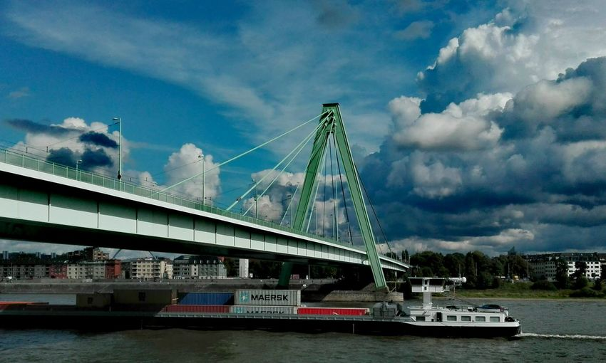 Köln Cologne, Germany Severinsbrücke Rheinauhafen No People Architektur Architecture Bridge - Man Made Structure Transportation Cloud - Sky Low Angle View No Edit/no Filter Rhein Rhine Dramatic Sky #urbanana: The Urban Playground