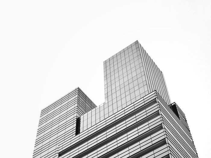 Architecture_collection Black And White Blackandwhite Angles And Lines Urban Urban Geometry Geometric Shape Lines And Shapes Architecture Built_Structure Building Exterior Building Sky Clear Sky Low Angle View Office Building Exterior City Copy Space No People Modern Skyscraper Tall - High Office Day White Background Tower Outdoors The Week On EyeEm Editor's Picks #urbanana: The Urban Playground 17.62°
