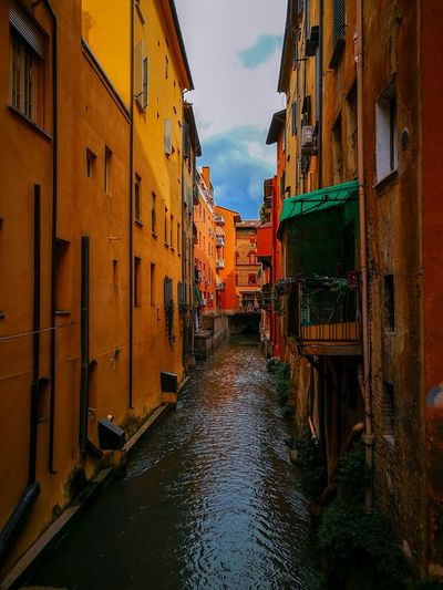 Narrow alley amidst buildings in city