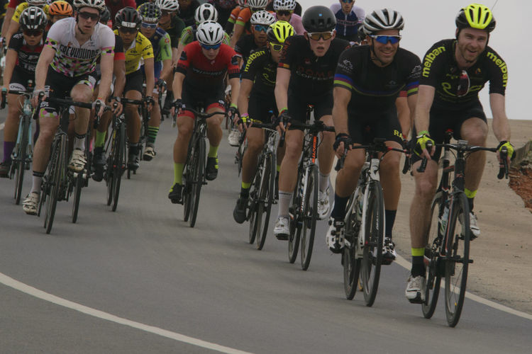 Mid Adult Sports Race Adults Only Full Length Mid Adult Men Healthy Lifestyle Outdoors Sport Large Group Of People Sports Clothing Competition People Adult Starting Line Competitive Sport Cycling Helmet Day Sports Event  Track And Field Low Section Tourdebintan2017 Mountain Bike Tourdebintan Racing Bicycle Cycling