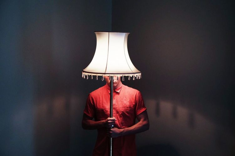 There's something with this lampshade 3/3 Portrait South Africa Fashion Man
