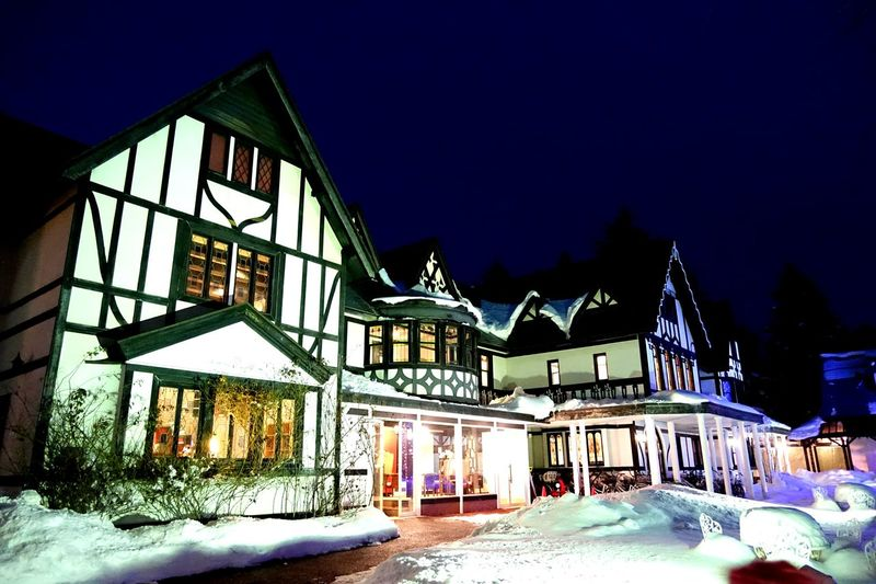 Karuizawa Hotel Longing House Night Built Structure Cold Temperature Building Exterior Winter Ice Rink Architecture Shades Of Winter