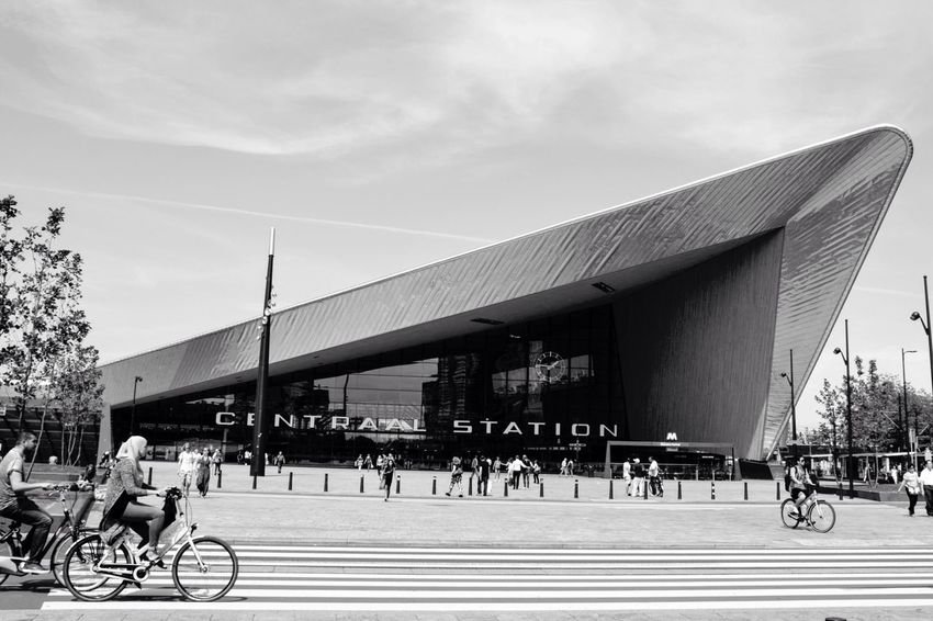 Central Station Rotterdam, the Netherlands B&w Street Photography Showcase: December Streetphotography Travel Photography Travelblogger Earth Trek Black & White EyeEm Best Shots Black And White Bestoftheday