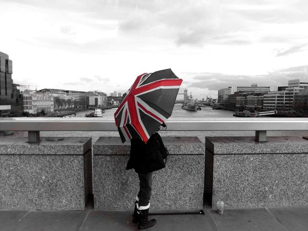 London colour splash part 2 Architecture Hello World Black And White Colorsplash Union Jack People Umbrella Person London - England Uk Outdoors City Famous Place International Landmark Capital City Capital Cities  River Thames River View Colour Splash London British Culture Tourism Travel Day EyeEm LOST IN London Shades Of Winter