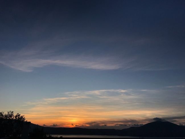 Radhime Albania Tranquil Scene Sunset Beauty In Nature Sky Nature