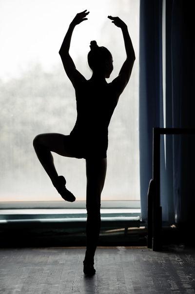 Ball-room Ballerina Ballet-dancer Barre Caucasian Class Dance Female Serious Student Studio Teacher Whistful Women Young Women