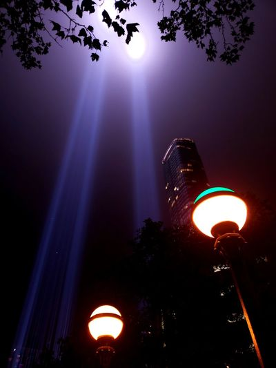 Remembrance New York City New York Memoriam Remembrance September 11th  911 Tribute Light City Illuminated Sky Light Beam