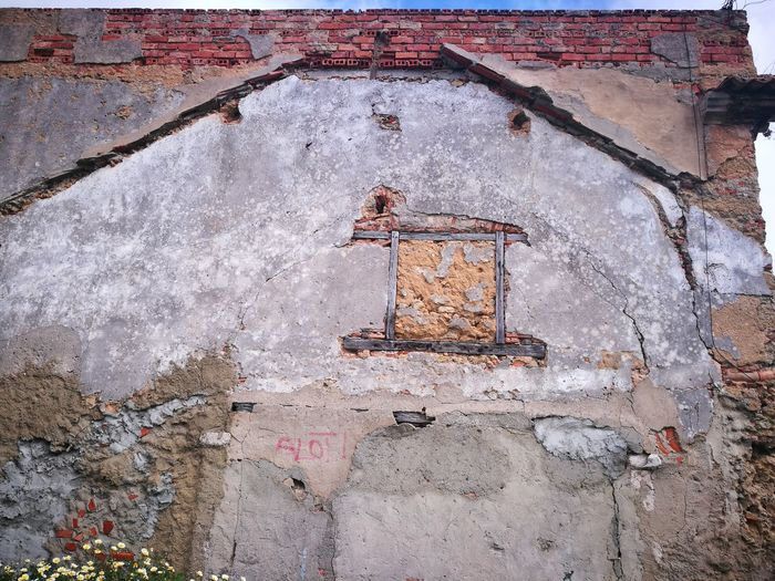 Graffiti on old wall