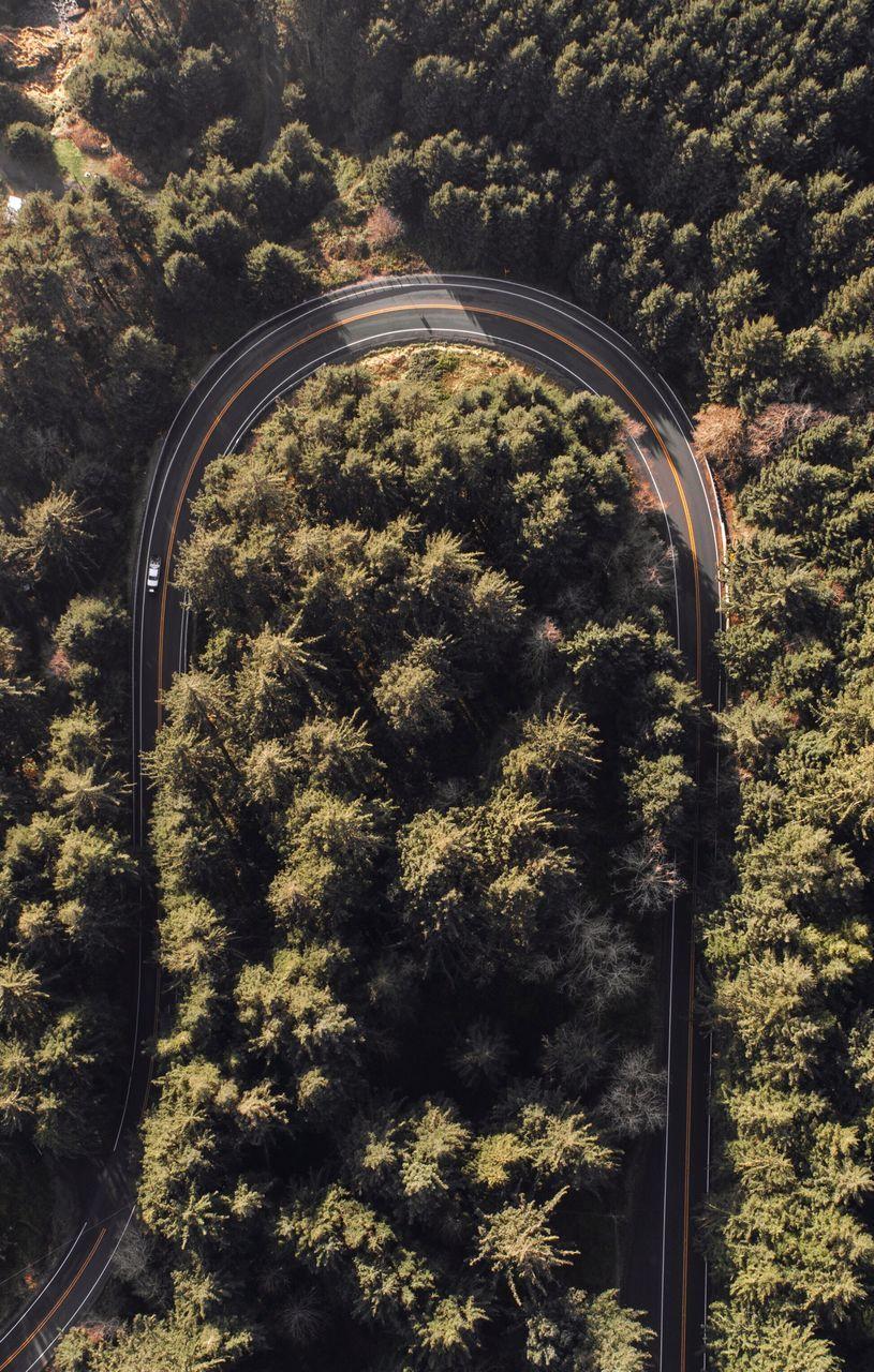 Full Frame Shot Of Road Curving