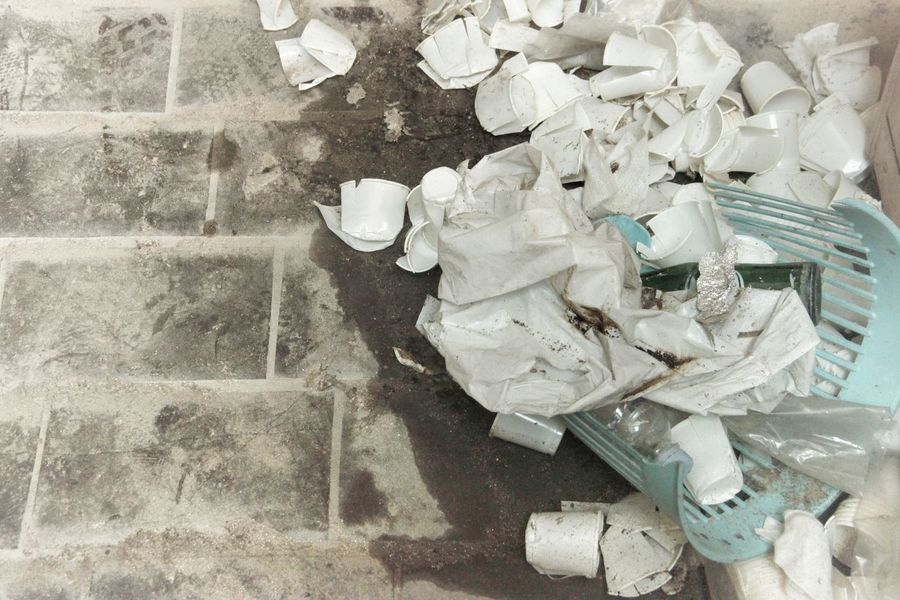 | Abandoned | Abandoned I Luoghi Dell'abbandono Close-up Crumpled Paper Wastepaper Basket Garbage Garbage Can Recycling The Still Life Photographer - 2018 EyeEm Awards The Traveler - 2018 EyeEm Awards The Photojournalist - 2018 EyeEm Awards Creative Space