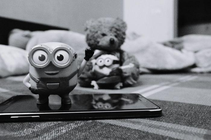 Home, Funny, Minion, Blackandwhite, black and white, kids, toys