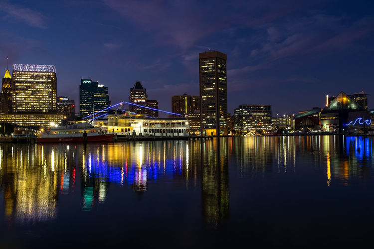 Inner Harbor, 2018 Building Exterior Architecture Built Structure Reflection City Illuminated Building Water Sky Night Waterfront Cityscape Nature Urban Skyline Office Building Exterior Cloud - Sky River No People Landscape Skyscraper Tall - High Outdoors Modern Nightlife Financial District  EyeEmNewHere A New Beginning