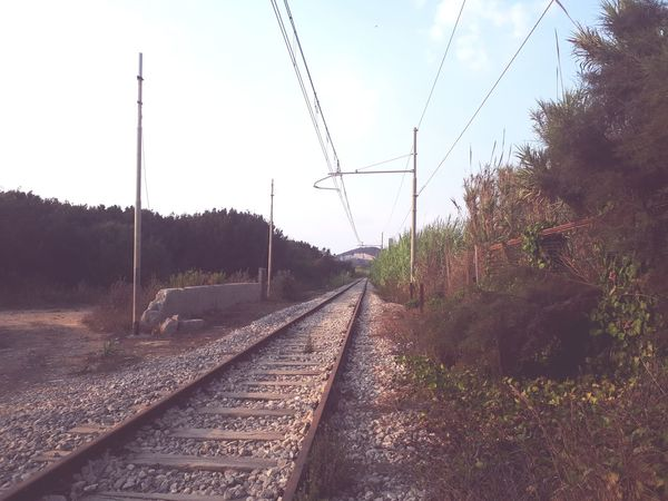 Connected By Travel Railroad Track No People Transportation Cloud - Sky Sky Day Outdoors Beach Walk Lost In Nature Old Not Used Anymore Abandoned It's About The Journey