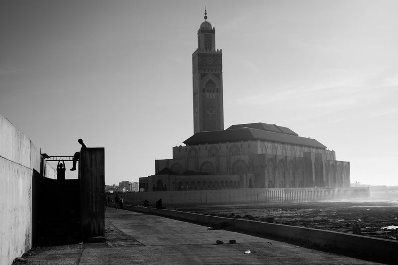Architecture Blackandwhite Casablanca Chinup Famous Place Hassan II Mosque Leica Monochrome Morocco Diary Showcase July Silhouette Streetphotography Summicron