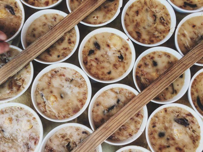 Full frame shot of food in bowls