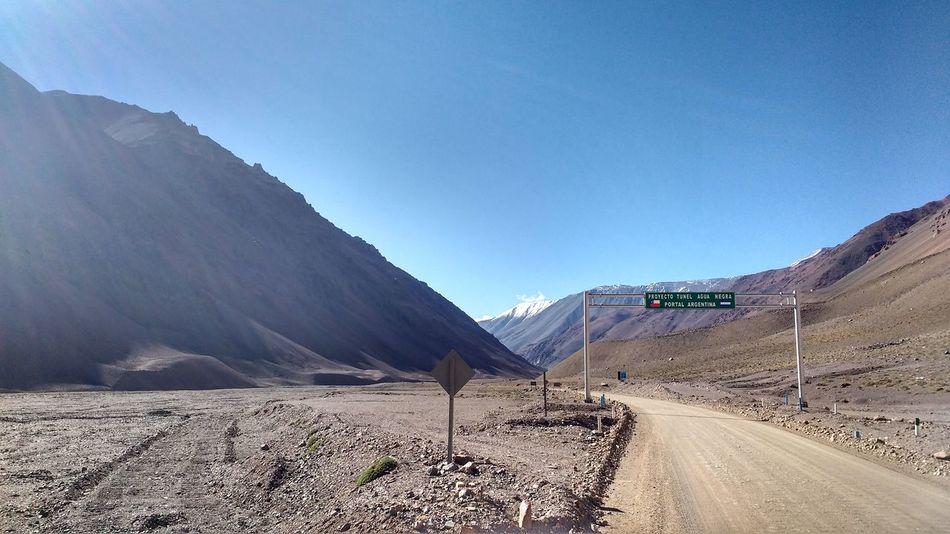Mountain Lake Cordillera Day Chile